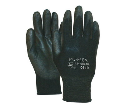 Nylon paar zwarte handschoenen easy grip PU-FLEX-B