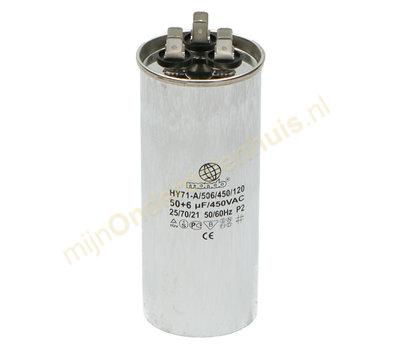 Universele condensator voor Airco 50uf+6uF 450V
