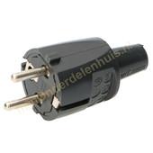 ABL ABL stekker met randaarde zacht PVC 33108 zwart