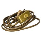 EGB EGB aansluitsnoer met stekker en schakelaar 1,8m goud 2x0.75mm²