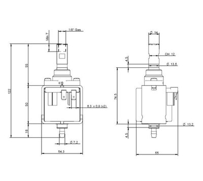 Ulka vibratiepomp voor koffiemachine EP8
