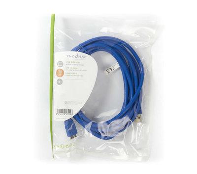 USB A 3.0 naar micro B kabel 3m blauw CCGP61500BU30