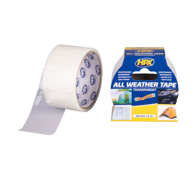 HPX all weather tape transparant 48mm x 5m