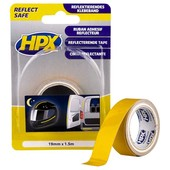 HPX HPX reflectie tape geel 19mm x 1.5 meter