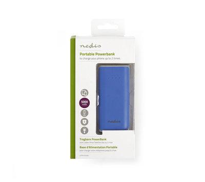Draagbare powerbank 5000 mAh USB UPBK5000BU
