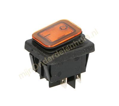 Universele apparaatschakelaar inbouw IP65 oranje