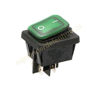 Universele apparaatschakelaar inbouw  IP65 groen