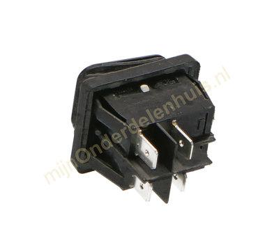 Universele apparaatschakelaar inbouw  IP65 zwart