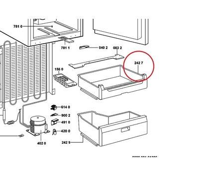 Whirlpool vrieslade van koelkast 480132103385
