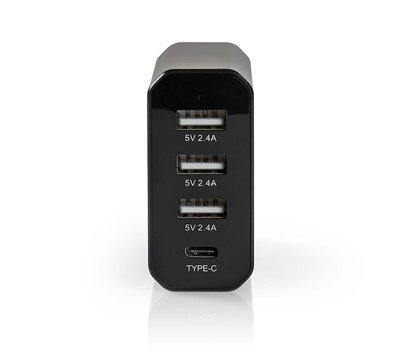 Universele USB lader met USB-C 8.0A WCHAU800ABK