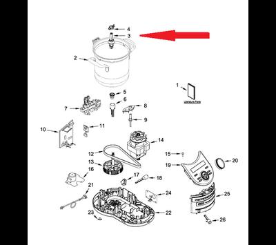 KitchenAid adapter van CookProcessor W10803482