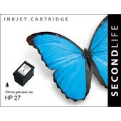 SecondLife SecondLife inktcartridge voor HP 27 XL zwart