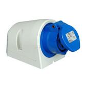 Kopp CEE wandcontactdoos 16A 3 polig 250V blauw