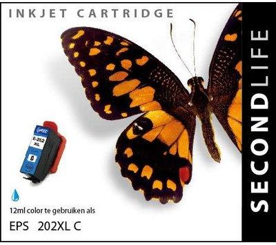 SecondLife inktcartridge voor Epson 202XL blauw