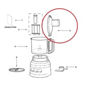 KitchenAid KitchenAid deksel van keukenmachine W11239488