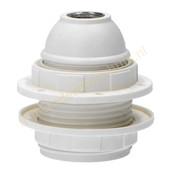 EGB EGB fitting E27 met schroefdraad en 2 ringen -wit-