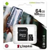 Kingston Kingston Micro SD kaart / flash memory: 64GB MicroSDXC
