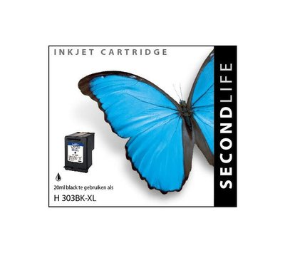 SecondLife inktcartridge voor HP 303XL zwart