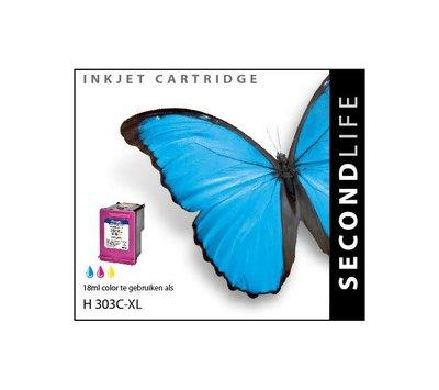 SecondLife inktcartridge voor HP 303XL kleur
