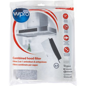 Wpro Universeel vet- en koolstoffilter voor afzuigkap UCF016  484000008524