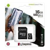 Kingston Kingston MicroSD kaart / flash memory 16GB MicroSDHC