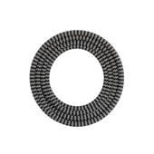 Calex Calex textiel omwikkelde kabel zwart/wit 1,5m 940244