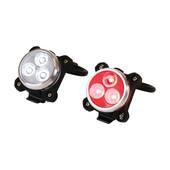 Dresco Dresco fiets verlichtingsset 3 LED USB oplaadbaar 5251213