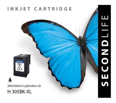 SecondLife inktcartridge voor HP305 XL zwart
