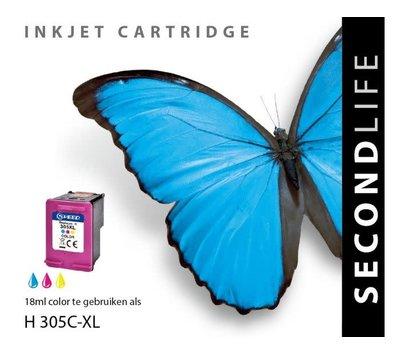 SecondLife inktcartridge voor HP305 XL kleur
