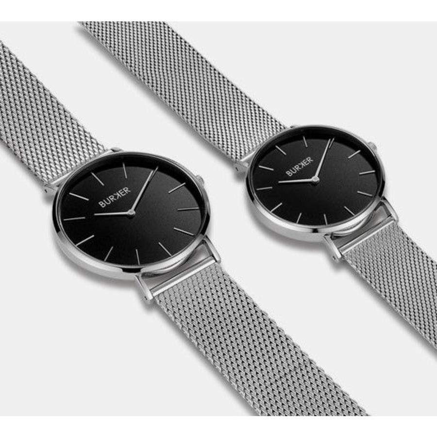 Burker Watches ADAM & EVE SILVER BLACK