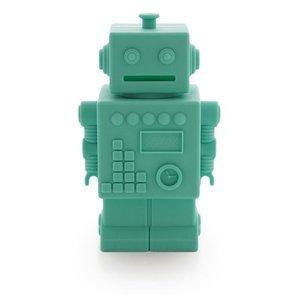 KG Design Robot spaarpot lime