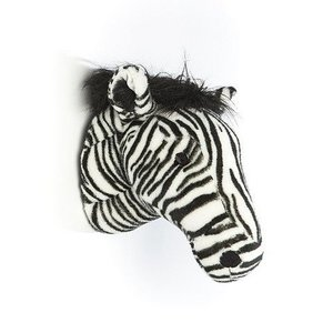 Wild and Soft Dierenkop Zebra