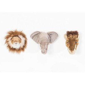 Wild and Soft Mini Safari Set , Olifant, Leeuw en Giraf