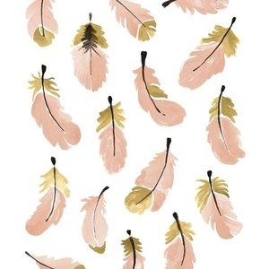Lilipinso Flamingo veertjes muursticker