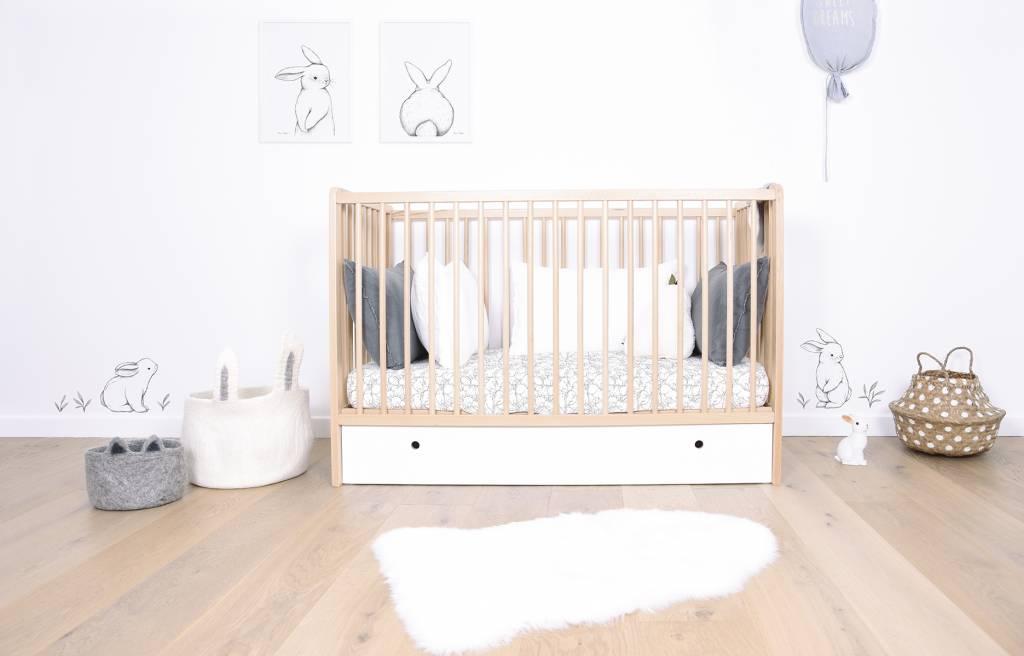 Behang Kinderkamer Ruimtevaart : Konijntjes zwart wit behang van lilipinso klein en stoer