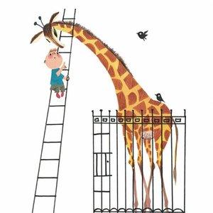 Kek Amsterdam Fotobehang Giant Giraffe, 243.5 x 280 cm