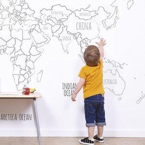 Lilipinso Wereldkaart behang