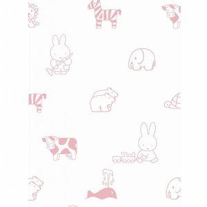 Kek Amsterdam Nijntje Animals roze 97.4 x 280 cm