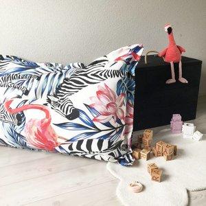 Klein & Stoer Zitzak zebra, flamingo