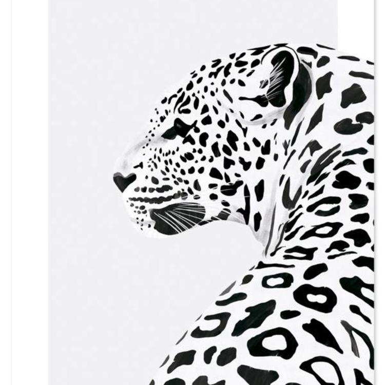 9d87b9ff9cb Luipaard poster van Lilipinso in het zwart wit