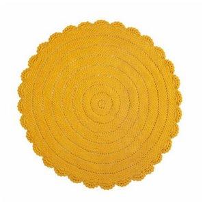 KidsDepot Roundy vloerkleed geel