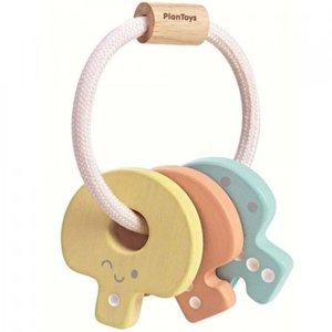 PlanToys Sleutels Rammelaar pastel