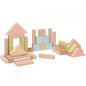 PlanToys 40 bouwblokken pastel