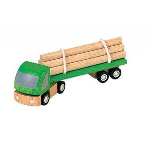 PlanToys Houten vrachtwagen met boomstammen