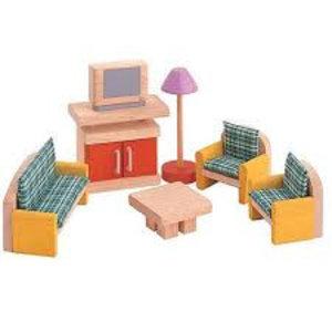 PlanToys woonkamer voor je poppenhuis