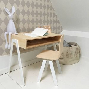 In2Wood Kinderbureau plus stoel wit