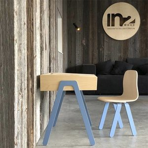 In2Wood Kinderbureau plus stoel blauw