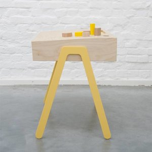 In2Wood Kinderbureau plus stoel geel
