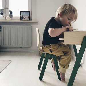 In2Wood Kinderbureau plus stoel groen