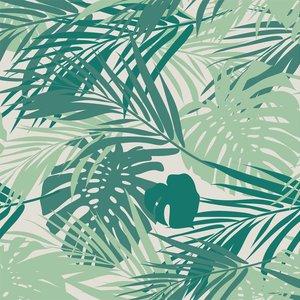 Klein & Stoer Bladeren Behang groen, 96 x 280 cm